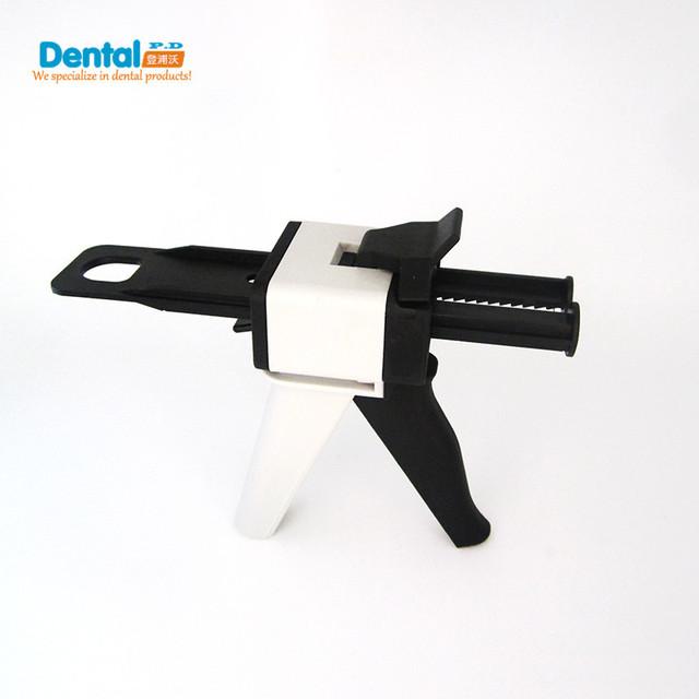 Novos Equipamentos de Moldagem De Borracha de Silicone Dental Misturando Dispenser de Dispensação Arma AB Gun 1:1 e 1:2 Calafetagem 50 ml Dentista Produto