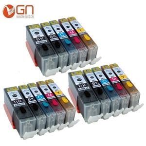 GN 15 шт. PGI 250XL CLI 251XL картридж со съедобными чернилами для принтеров Canon PIXMA MG5420 MG5422 MG5520 MG5522 MG6420 IP7220 MX722 MX922