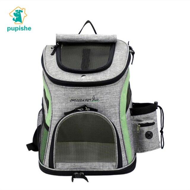 Mochila para transportar perros, bolsa transpirable para perros y gatos pequeños, portátil, para hombro, cosas para perros, senderismo, viaje, andar