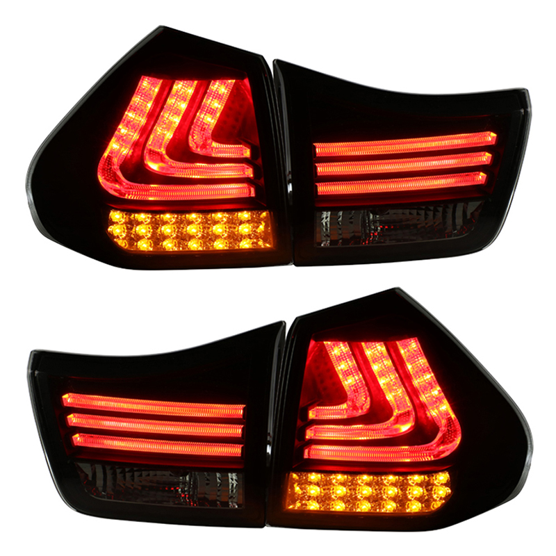 for Lexus RX330 RX350 LED Tail Rear lights 2004-2009 Smoke Black Housing Car lights Assembly фаркоп lexus rx 300 4x4 rx 330 4x4 rx 350 4x4 toyota highlander 2003 2009