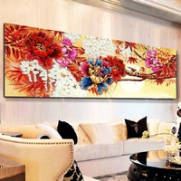 5D DIY Diamond Embroidery Peony Flowers Needlework Full Square Rhinestone Pictures Cross Stich Home Decor 3d
