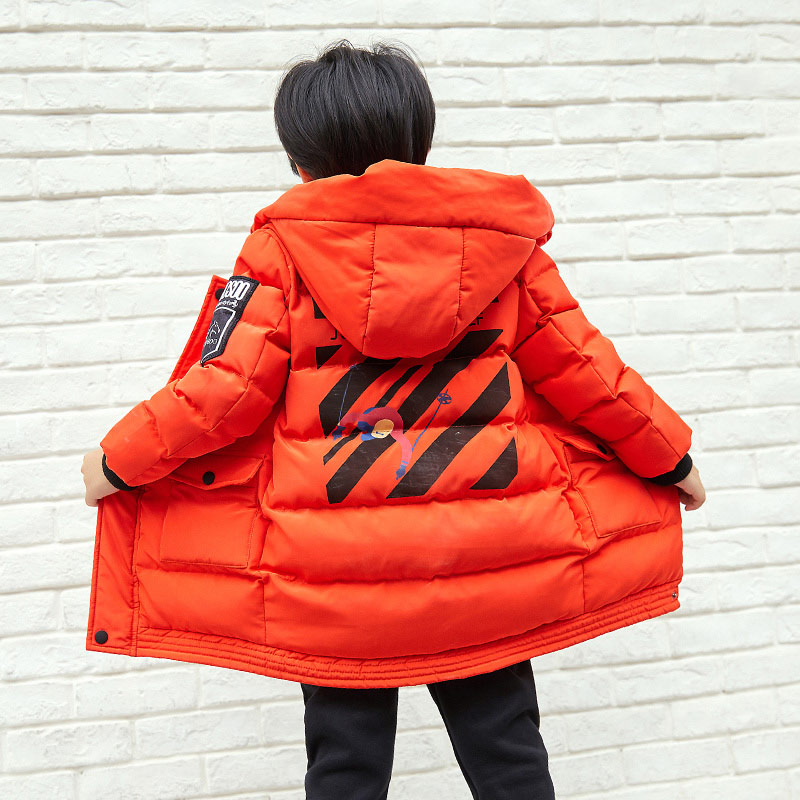 Pioneer Camp Kids Boys Winter Jacket boys thick cotton parkas for boys hooded fashion winter coats boys kids clothing BMF710039
