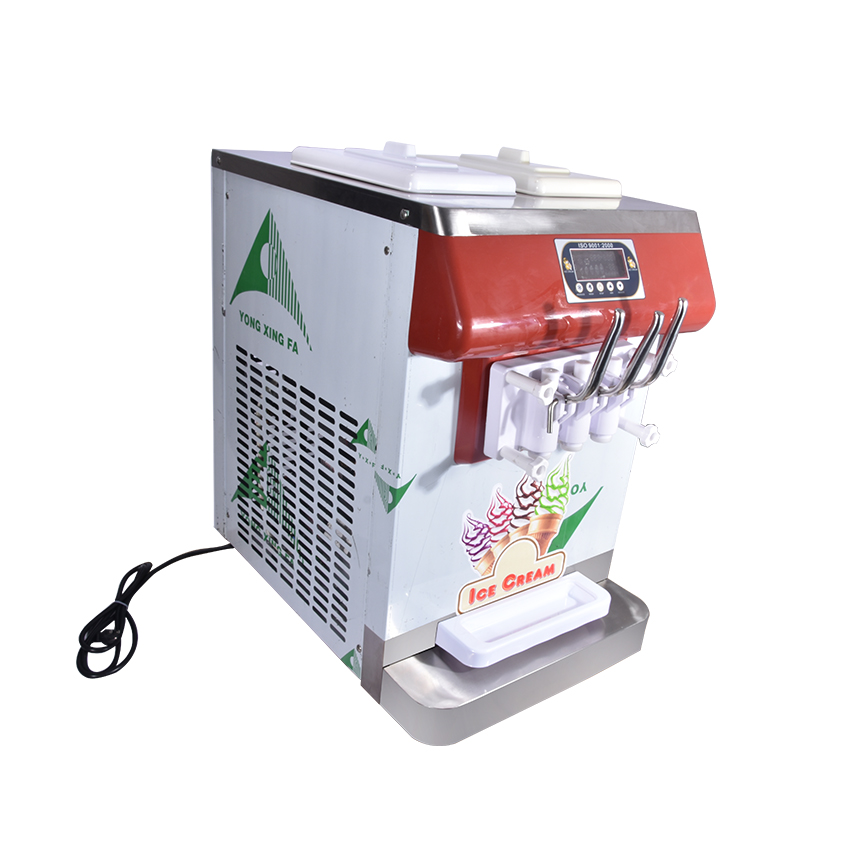 ICM-335 three color ice cream Countertop Soft Serve Ice Cream Machine Frozen Yogurt Ice Cream Machine R404a 110V,220V 18-25L/H