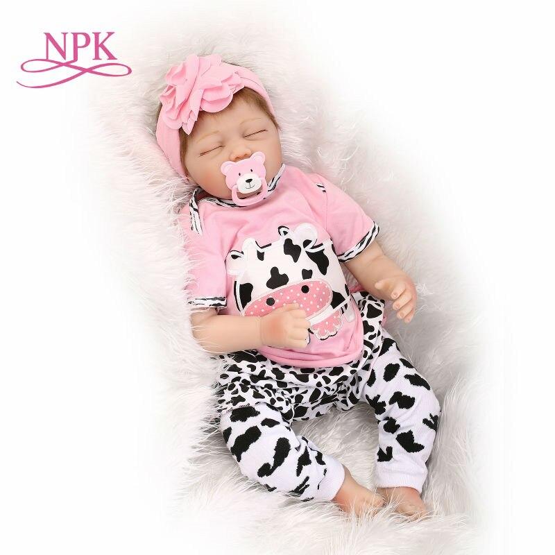 NPK Bebe reborn princesse silicone poupées reborn taille 22 pouces Princesse Toddler Bébés Poupées jouets pour enfants cadeau réel alive