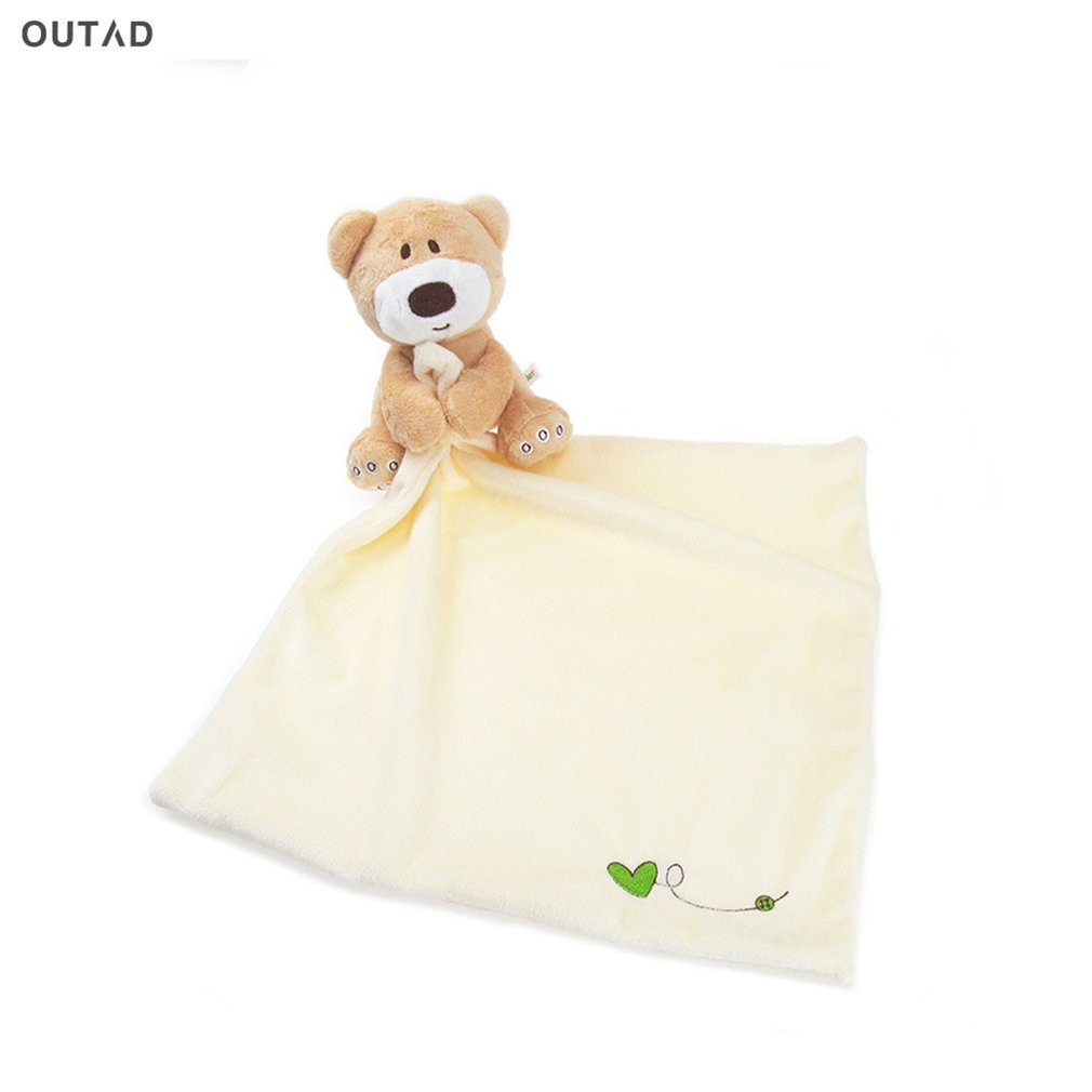 OUTAD Baby Bath Bear Towel Lovely Soft Cartoon Hooded Velvet Towels Infant Towel Reassure Kids Appease Baby Care Hot