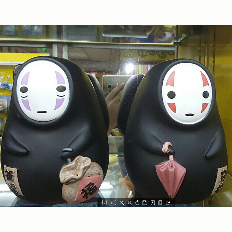 15cm Japan Anime Spirited Away No Face Man Piggy Bank PVC action figure collection model toys for gift no face male piggy bank hiccup sound money coin storage container bins kids toys funny gadgets anime action figure 3 styles