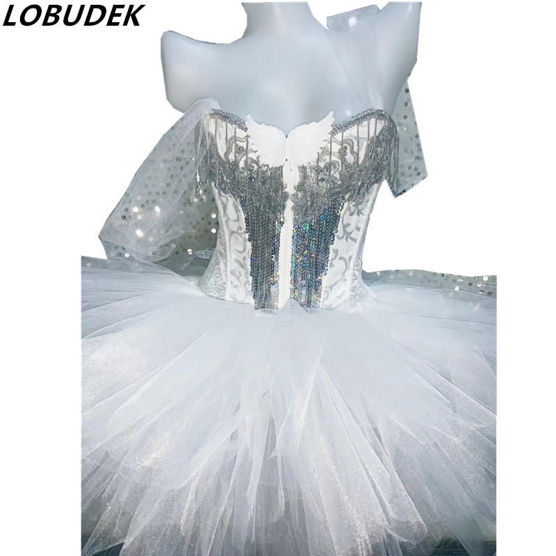 Female costume crystals sequins sparkly Rhinestones bodysuit Sexy DJ Singer Stage Bar Party Show Dance dancing nightclub bar