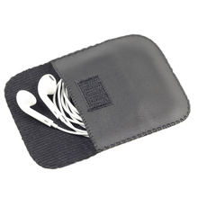 Waterproof Headset Storage Bag PU Leather Earphone Bag Portable Carrying Case for Headphone Mini Pouch for earbuds