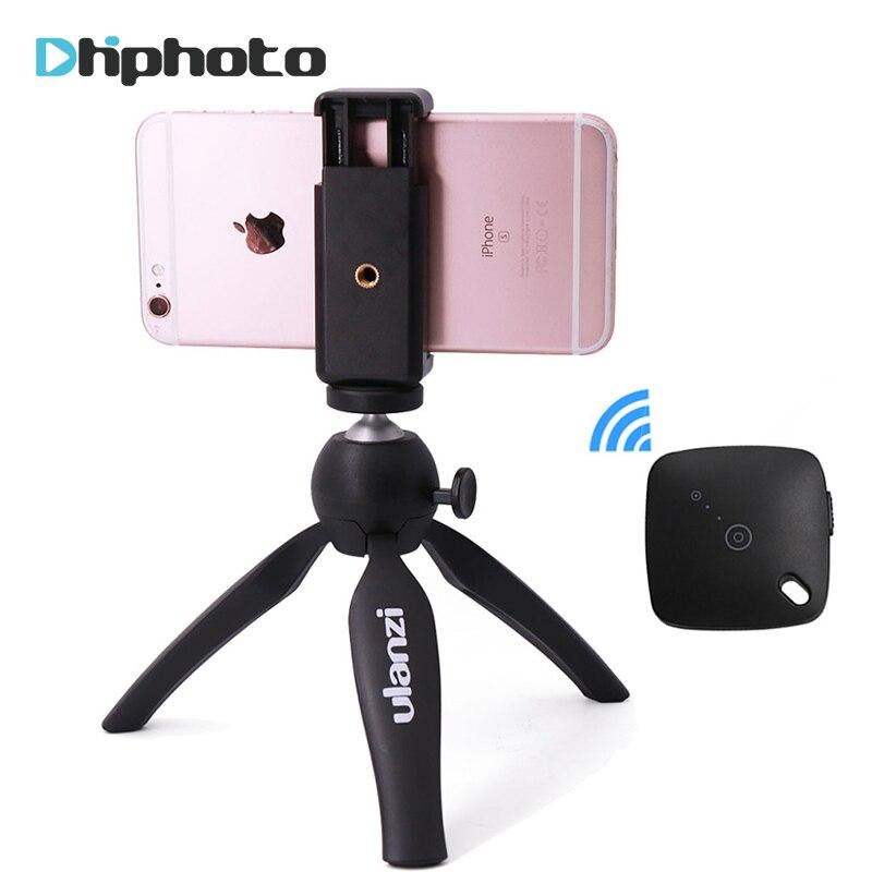 Ulanzi Mini Stativ mit Telefon Halter Halterung, tragbare Selfie Kamera Stativ Einbeinstativ für iPhone X 7 Canon Nikon Gopro Smartphone