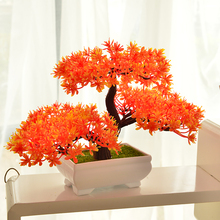 decoracion hogar simulation welcoming pine plant bonsai false flower pot ornament decoration coffee table desktop decoration