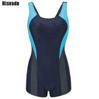 Riseado One Piece Swimsuit Women Swimwear Sports Swimming Suits Splice Training Swim Wear Professional Bathing Suits