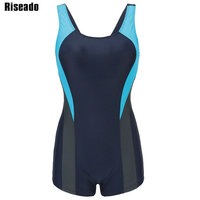 Riseado One Piece Swimsuit Women Swimwear Sports Swimming Suits Splice Training Swim Wear Professional Bathing Suits