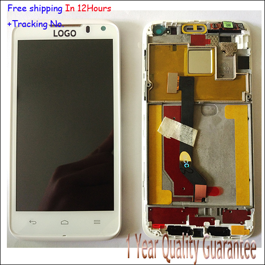 Original LCD Display+Touch Screen Digitizer Panel+Frame Assembly for Huawei Ascend D D1 Quad XL U9510 U9510E Completely Black