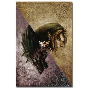 The Legend of Zelda Twilight Princess Art Silk Pôster em Tecido 13x20 24x36 polegada Quente Jogo Pictures para Sala de estar Decoração Da Parede 010