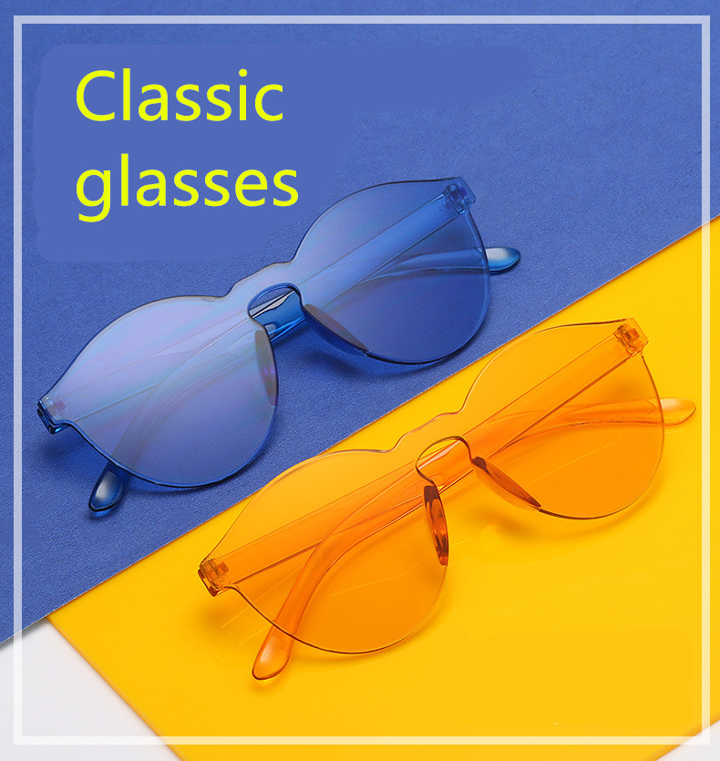 ASUOP2018 New Ladies Retro Cat Eye Fashion Glasses High-End Brand Travel Men's Transparent Sunglasses UV400 Round Color Sunglass (8)