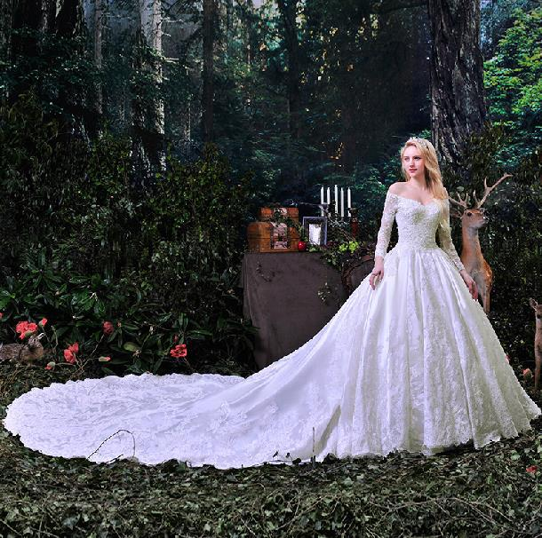 2015 New Design Wedding Dress Fashion Strapless Royal Train Actual Images Ball Gown Zipper Princess Dresses In From Weddings