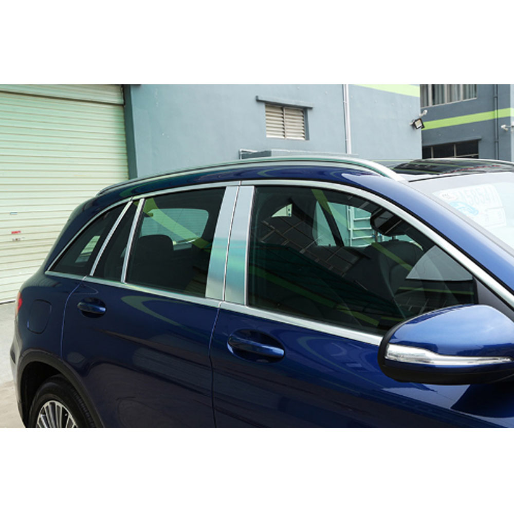 Stainless Steel Glass Window Trims Pillar Middle Column Trim For Mercedes Benz GLC Class X253 200 250 300 4 Door Sedan AMG 8pcs 11pc x canbus no error led interior dome light lamp kit package for mercedes benz glc class x253 glc250 glc300 glc350 2015