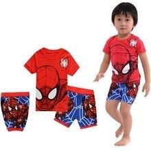Лидер продаж детские пижамы комплект Классический пижамы для Обувь для  мальчиков короткий рукав детская одежда для 244aab5eb8404