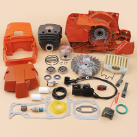Crankcase Cylinder Piston Engine Cover Flywheel Ignition Coil Overhaul Kit Fit Husqvarna 372 365 362 371 Chainsaw Motor Parts