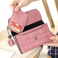 New Fashion Women Wallet Long Designer Leather Coin Purses Female Clutch Credit Card Holders knitting  Tassel Hasp Wallet Girls