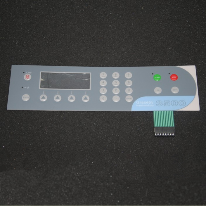 Graseby3500 Injection pump Membrane switch keypad for Panel repair ,FAST SHIPPING membrane keypad for 03500b 0124 101 repair new 100% fast shipping