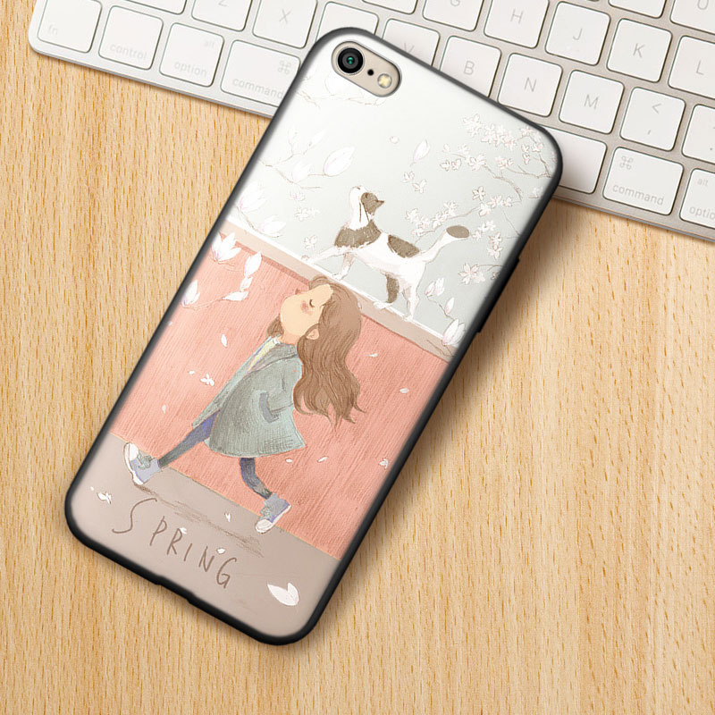 Cartoon Animal Painting Soft silica gel phone case FOR iPhone XR XS Max X  For 6S 6 7 8Plus Case