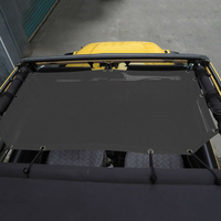 Screen Car Shade Protection Sunlight For Jeep Wrangler TJ 2 Doors Top Block Mesh Cover Black