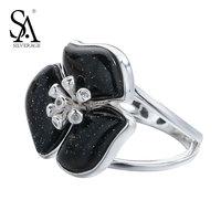 SA SILVERAGE Genuine 925 Sterling Silver Fine Jewelry Cubic Zirconia Rings
