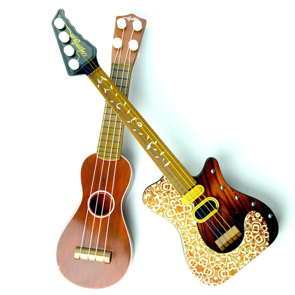14.5 Inch Ukulele Beginner Hawaii 4 String Nylon Strings Guitar Musical Ukelele For Children Kids Girls Christmas Gifts 2018