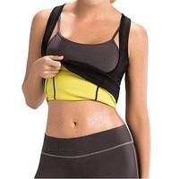 Hot Shapers Waist Trimmer Slimming Shirt Women Sweat More Fat Burning Waist Trainer Workout Body Shaper