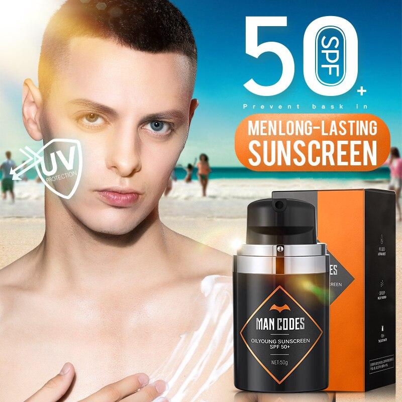 50g Men Facial Body Sunscreen Cream Sun Protection SPF 50+ Isolation UV Sunscreen Anti-Aging Oil-control Moisturizing Sunblock