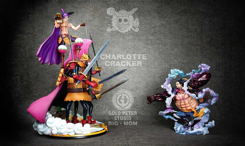 Model Fans Instock One Piece Gp Pop Big Mom Pirates Dessert Four Star Charlotte Cracker Gk Resin Statue Figure For Collection