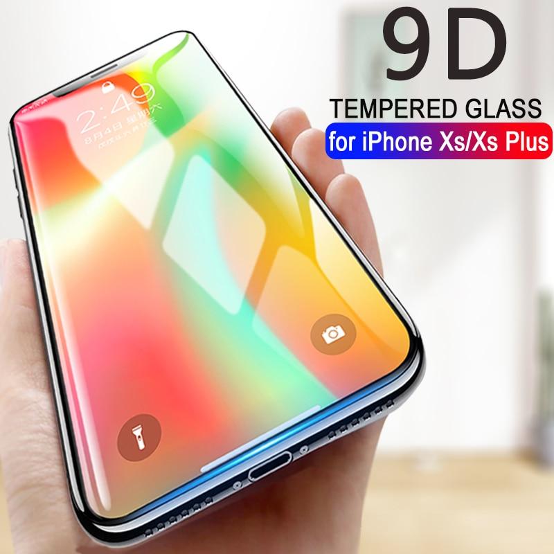 MEIZE 9D verre de protection pour iphone x 10 protecteur d'écran iphone x xr xs plus max verre trempé sur iphone x protection de verre