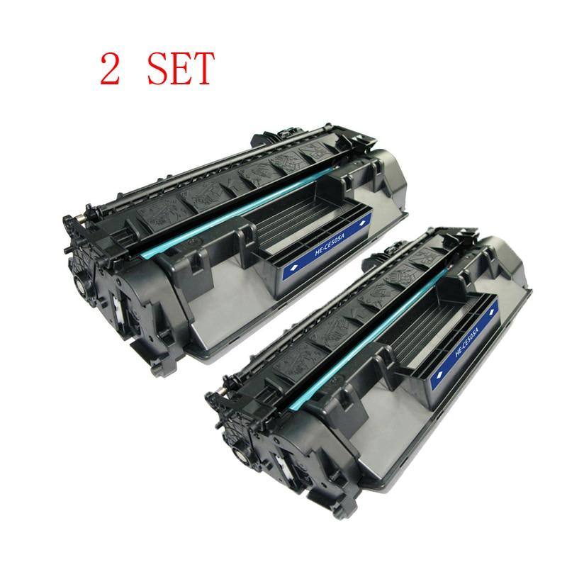 2 Satz CE505A laser-tonerpatrone Für HP LaserJet 2033 2034 2036 2037 2053...