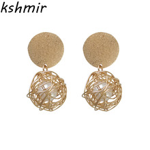 Kshmir Fashion metal earrings personality weaving 2018 Exquisite fashion pearl Ms jewelry wholesale