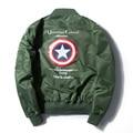 Timmiury Men Jackets Spring Bomber Jacket Embroidery Military Pilot Windbreaker 2017 Top Fashion Army Green/Black Flight Coat