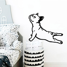 Cute Dog Wall Stickers Home Decor Girls Bedroom Sticker For Kids Room Living Removable Decals
