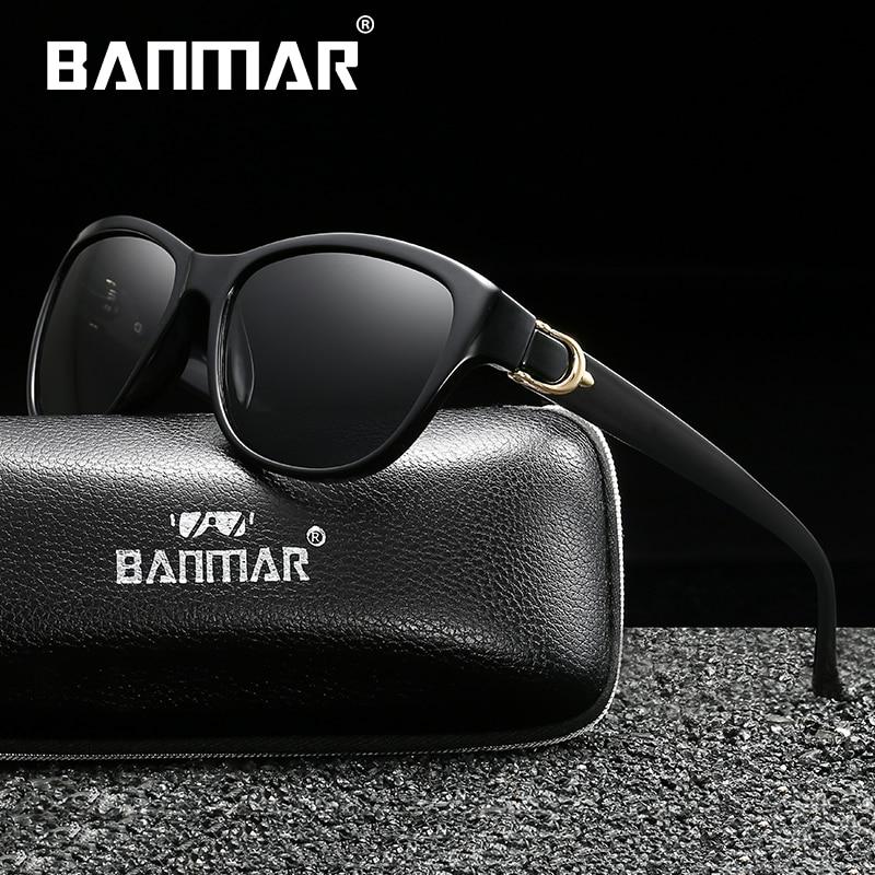 BANMAR New Women Fashion Brand Designer Oval Polarized Sunglasses Butterfly Frame Summer Gradient Lens Sun glasses Retro in Women 39 s Sunglasses from Apparel Accessories