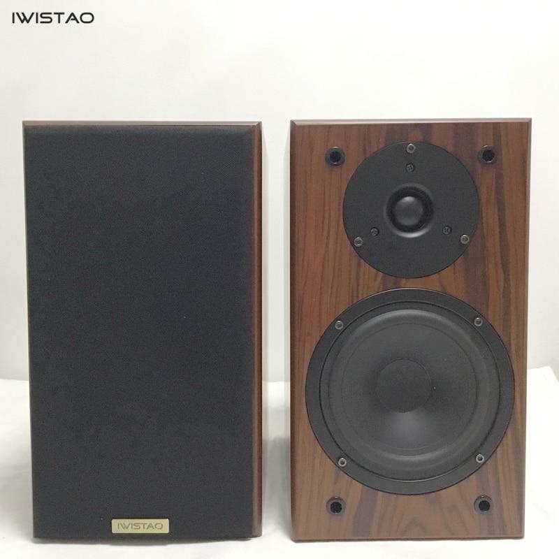 IWISTAO Bookshelf HIFI speakers Home 1 pair high sensitivity super Bass speaker high density board Wooden raw wood veneer Auido