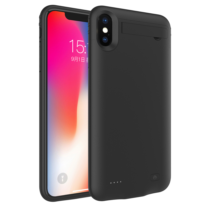 NTSPACE 4200mAh Power Bank For iPhone XR Battery Charging Case 5200mAh Portable Charger Cover For iPhone XS Max Battery Case in Battery Charger Cases from Cellphones Telecommunications