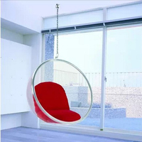 Chair Bubble Chair Indoor Swing Chair Space Sofa Transparent Sofa Hanging Bubble Chair Acrylic Material Transparent