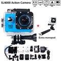 Hero 3 Estilo livre shiping Best Selling câmera SJ4000 30 M À Prova D' Água 1080 P Full HD DVR Esporte action Camera + Monopé Hot style