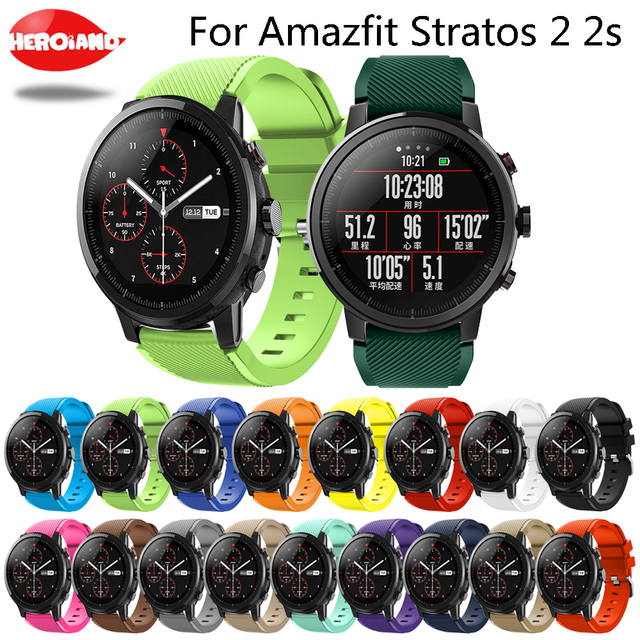 For Amazfit Stratos 2 2s smart watch strap Silicone bands bracelet belt for xiaomi huami amazfit band Replacement For Samsung S3
