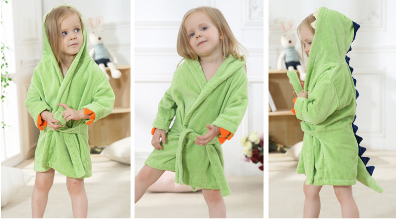 e0055f8cdb ... Hooded Children `s Towel Cute Dinosaur Bathrobes Beach Swimwear Boy  Pajamas. Size Suggest Age Size Tag. 2 T 0 - 2 T OS. 4 T 3 - 4 T OL. 1  2   3  4  5  ...