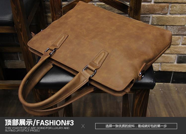 HTB13P74jqigSKJjSsppq6ybnpXaU Brand Crazy horse pu leather men bags vintage business leather briefcase men's Briefcase men travel bags tote laptop bag man bag