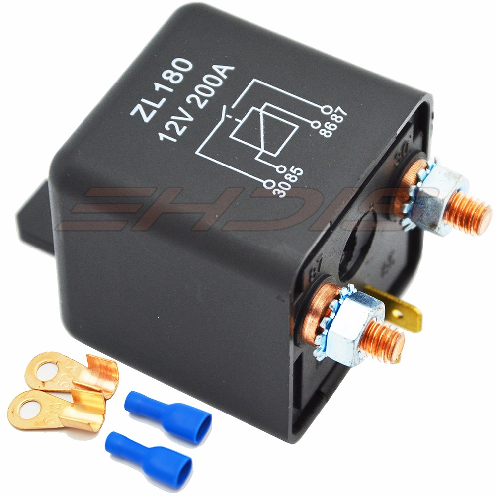 KH 200A High Power Car Relay 12V 24V Car Truck Motor Automotive Switch Bilrelæ Kontinuerlig type Automotive Relay med terminal
