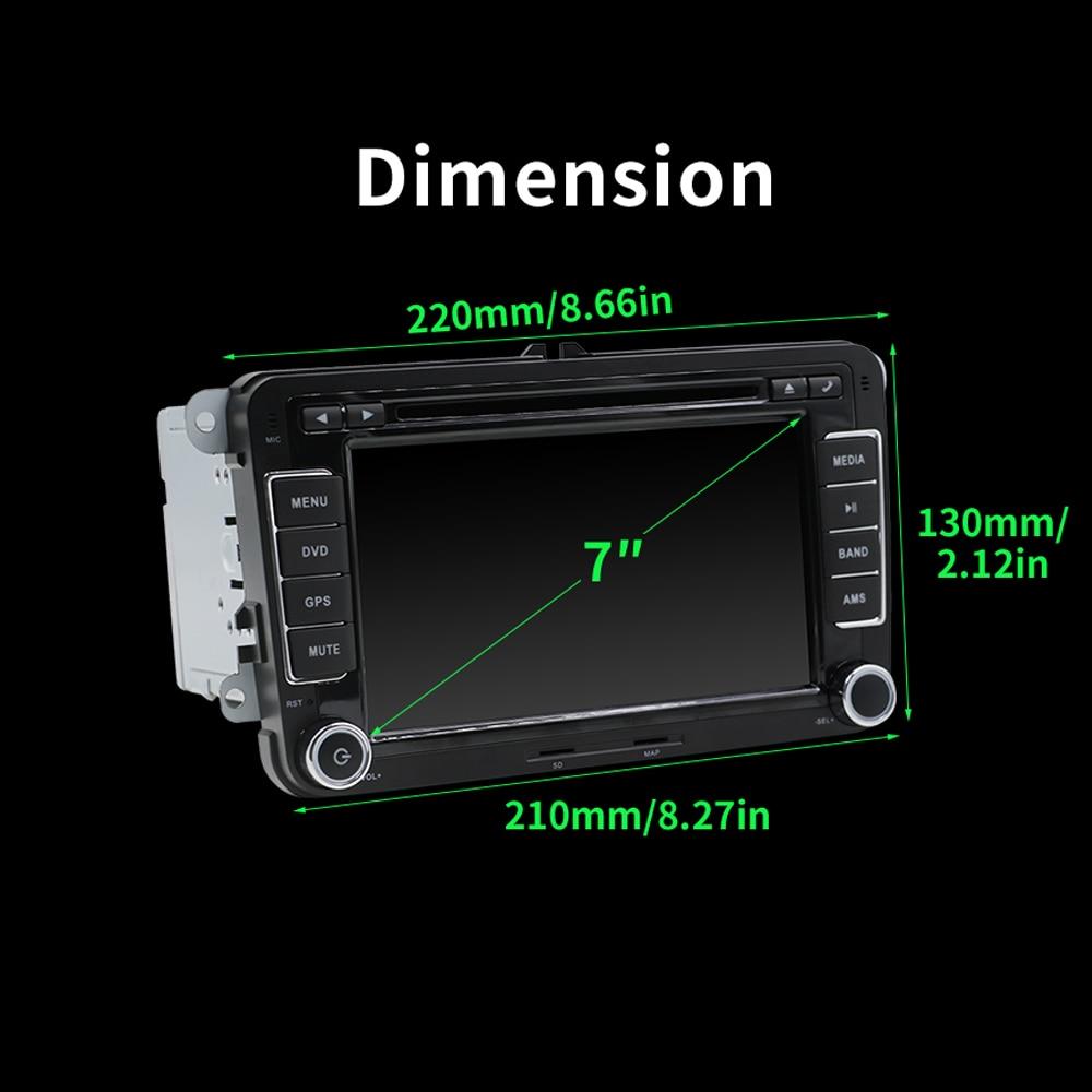Lecteur multimédia de voiture Octa core 2 Din Android 9.0 DVD de voiture pour Volkswagen/Golf/Polo/Tiguan/Passat/b7/b6/SEAT/leon/Skoda/Octavia - 6