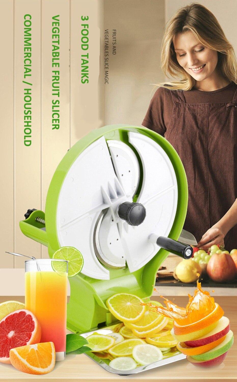 New Manual Fruit Cutter Vegetable Fruit Slicer Multi function Lemon Slicer 0 8 8MM Thickness with