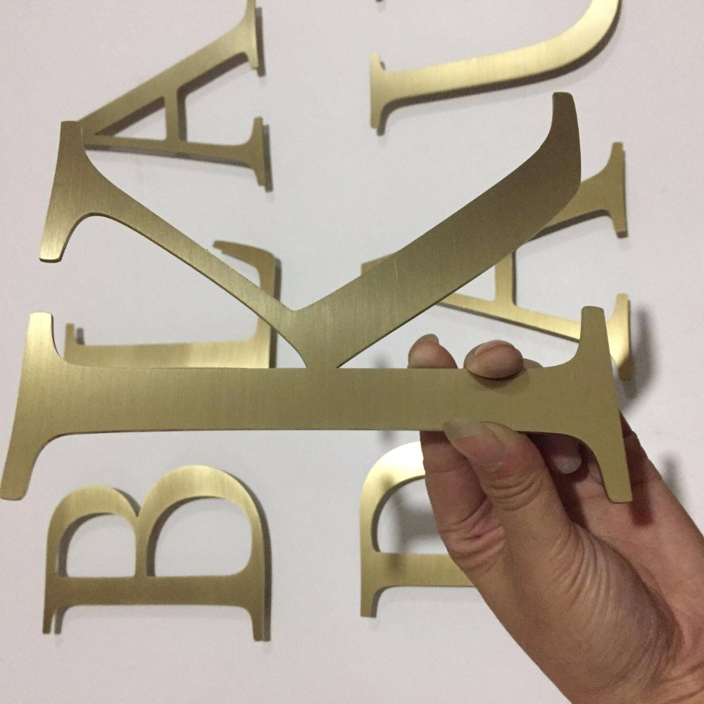 3mm stainless steel laser cut metal letters