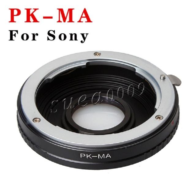 Adaptador de lente pentax pk lente para sony alpha minolta ma cámara con óptica de vidrio